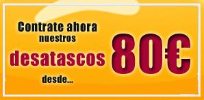 Promoción del mes desatascos en Barcelona por 80€